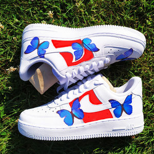 Custom Nike Air Force 1, Butterfly Shoes